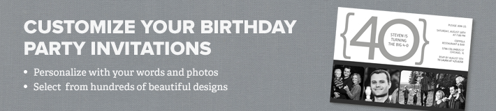 Birthday Party Invitations Banner