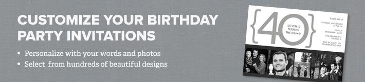 Birthday Party Invitations Banner