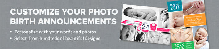Photo Birth Announcements Banner
