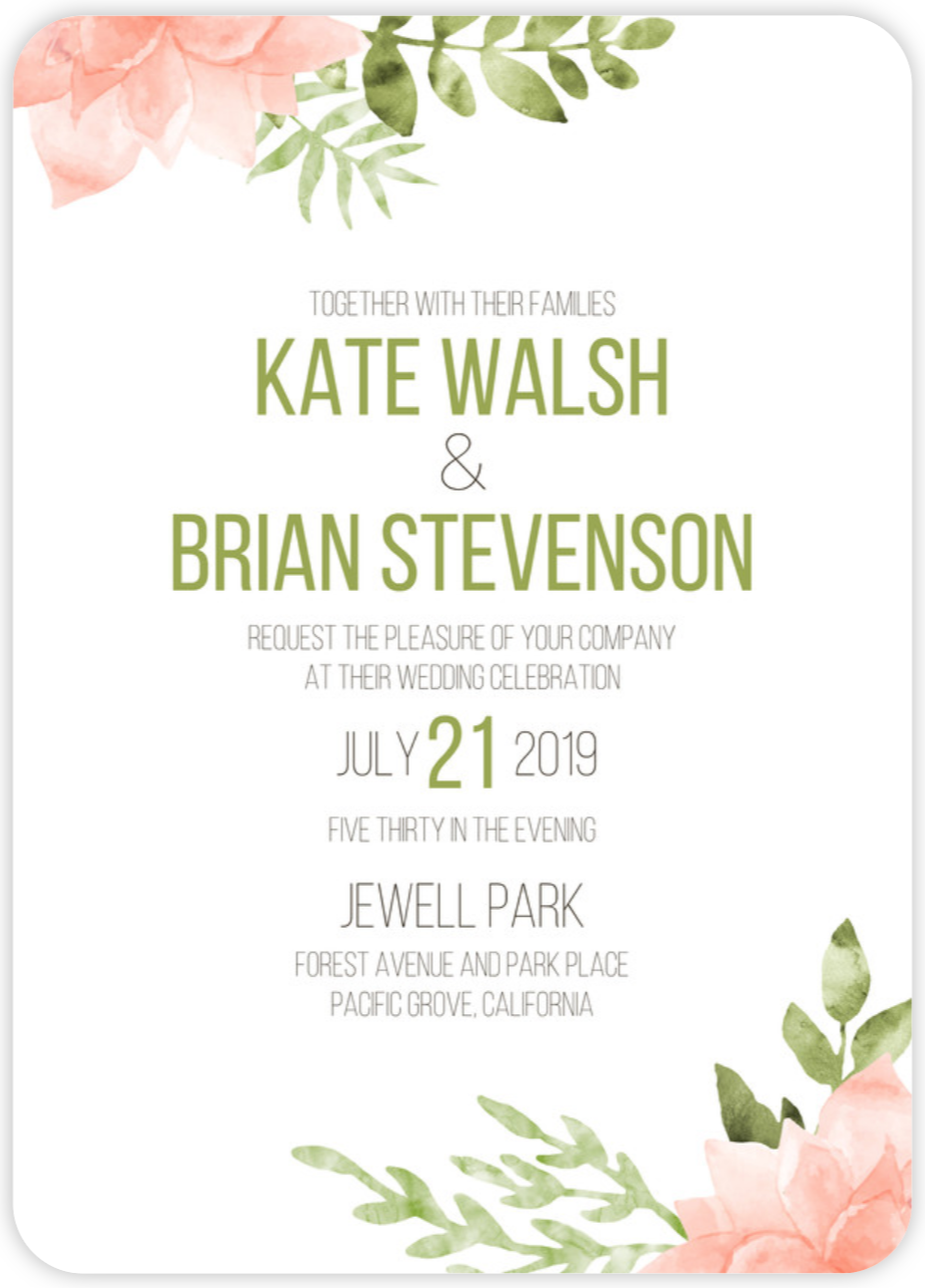 Invitation outdoor botanical wedding
