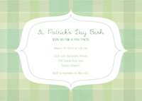 Green Plaid Invitation