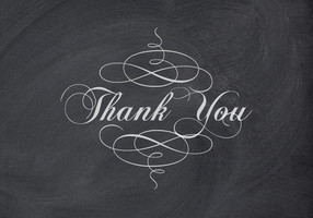 Elegant Chalkboard Thank You Card
