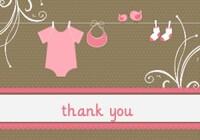Bekah Shower Thank You Card