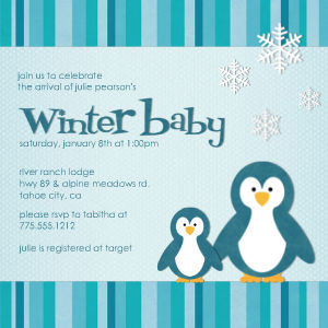boys baby shower invitations winter baby by mixbook