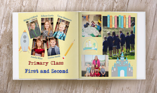 Online Yearbook Design Spreads Custom School Memory Books