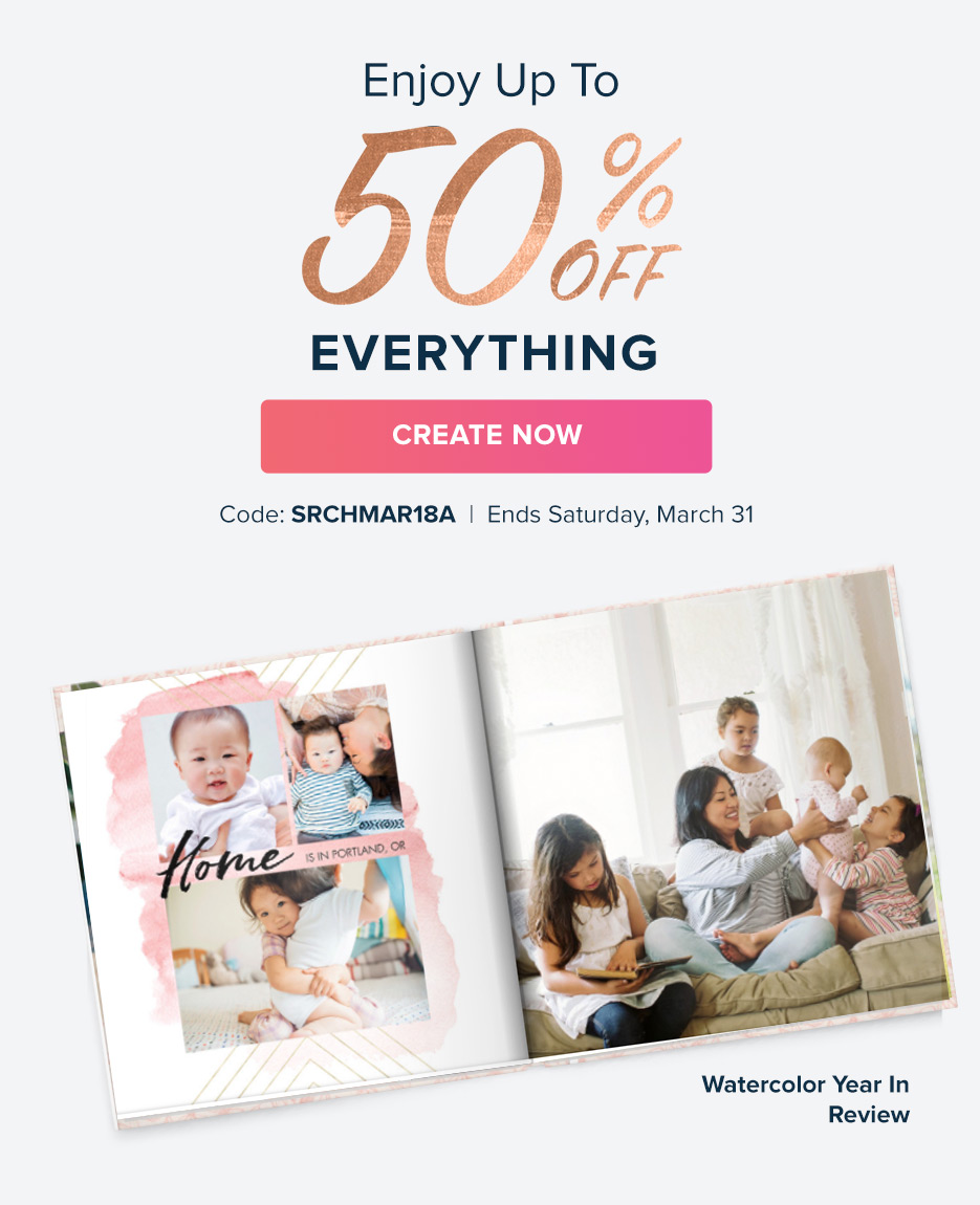 Enjoy up to 50% Off Everything!