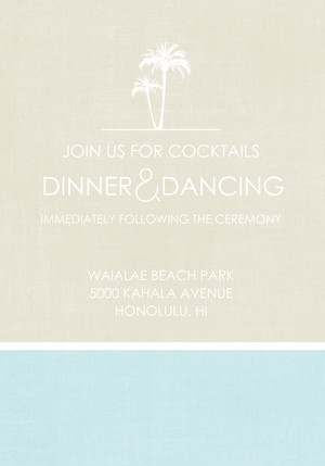 Palm Tree Paradise Reception