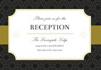 Black and Gold Sophisticate Reception