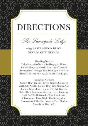 Black and Gold Sophisticate Directions