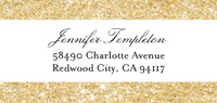 Glitter Address Label