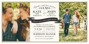 Wedding Invitations Vintage Banner