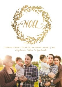 Gold Noel Wreath