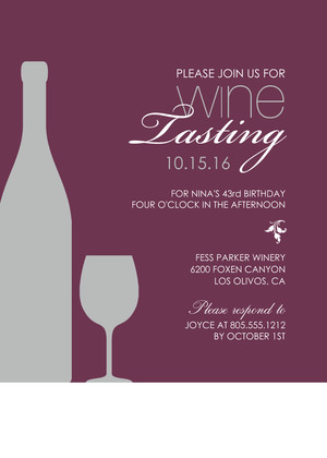 Birthday Party Invitations - Wine Tasting by Mixbook