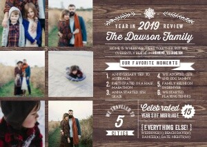Christmas Cards - Rustic Year in Review Christmas Photo Card