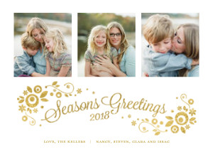 Sparkly Floral Seasons Greetings