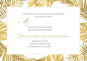 Gold Palm Leaves Wedding