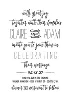 Hand Lettered Wedding