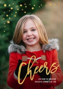Foil Cheers Holiday Greeting