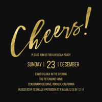 Cheers Holiday Invitation