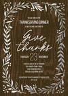 Thanksgiving Wreath Rustic Invitation