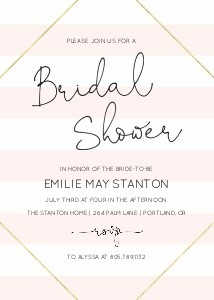 Pink Stripes Bridal Shower