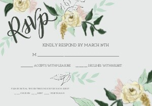 Hand-drawn Wedding Florals by Lily & Val
