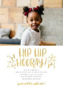 Hip Hip Hooray by Renmade Calligraphy