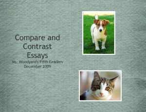Compare And Contrast Essay Between Cat And Dog