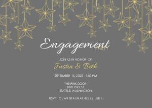 Engagement Party Invitations - Starry Night by Mixbook