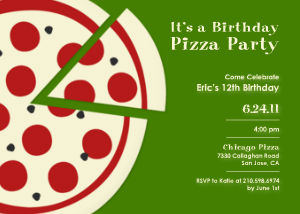 boys birthday party invitations  pizza party by mixbook, Party invitations