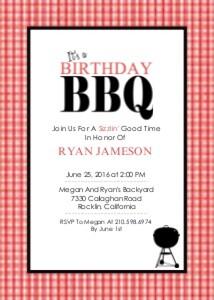 Birthday Party Invitations Birthday Bbq By Mixbook
